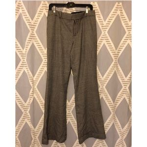 Club Monaco Wool Houndstooth Career Wide Leg Pants